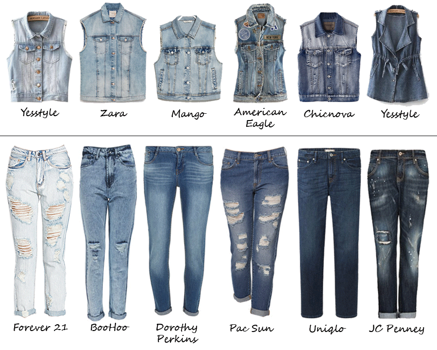 As promised, here is a follow up to yesterday's post – denim vests ...